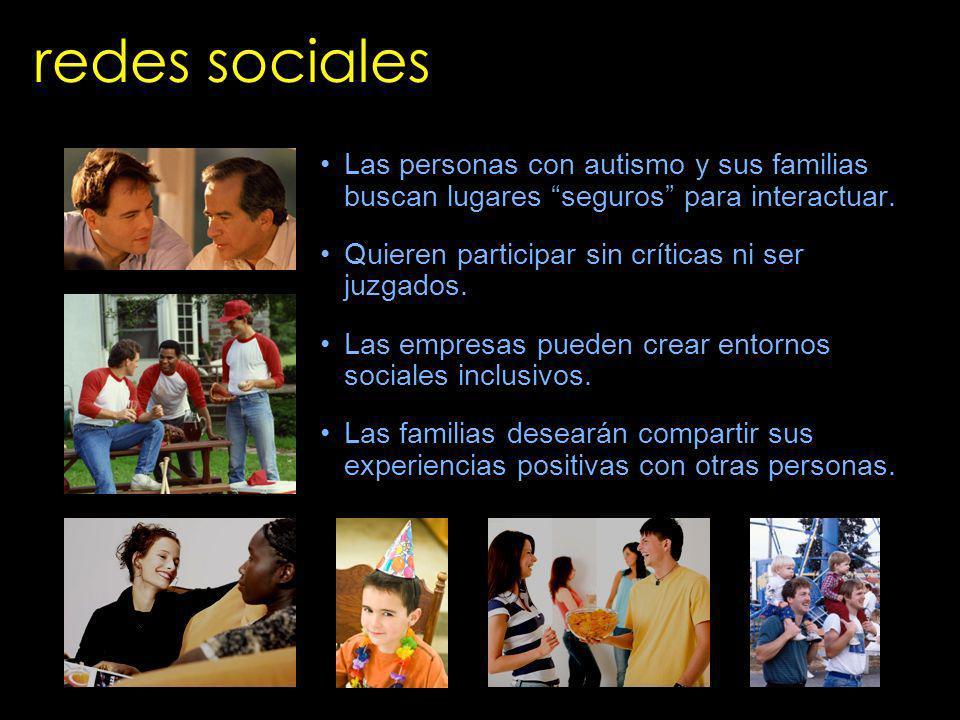 redes sociales Las personas con autismo y sus familias buscan lugares seguros para interactuar. Quieren participar sin críticas ni ser juzgados.