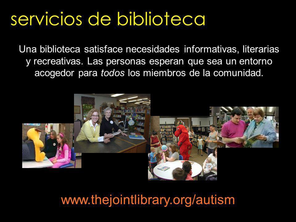 servicios de biblioteca