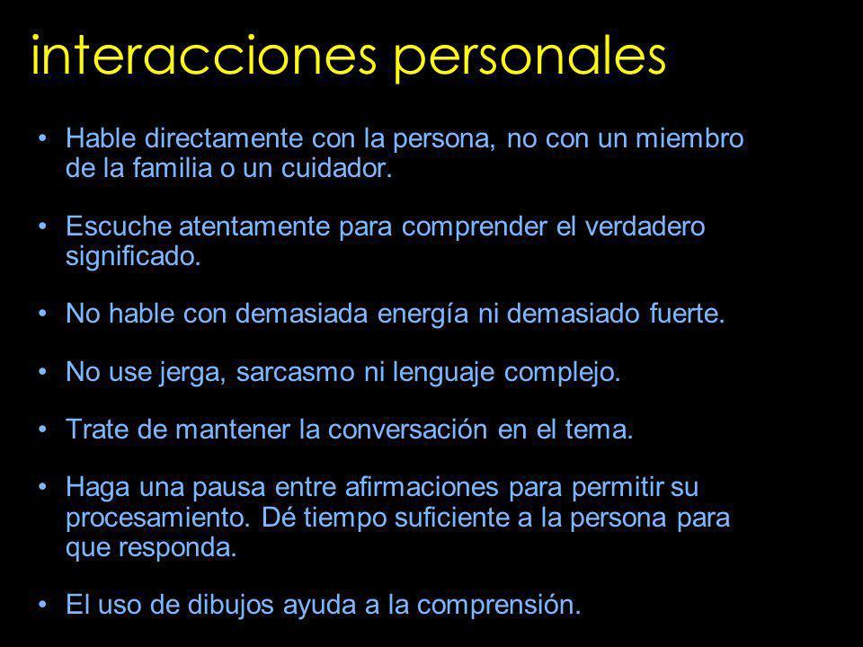 interacciones personales
