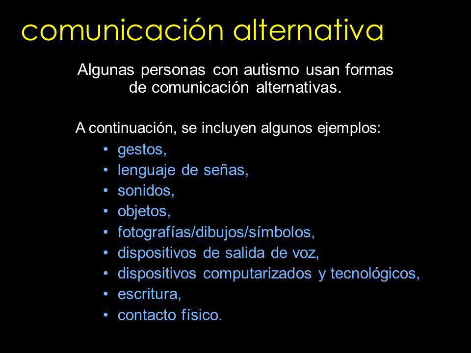 comunicación alternativa