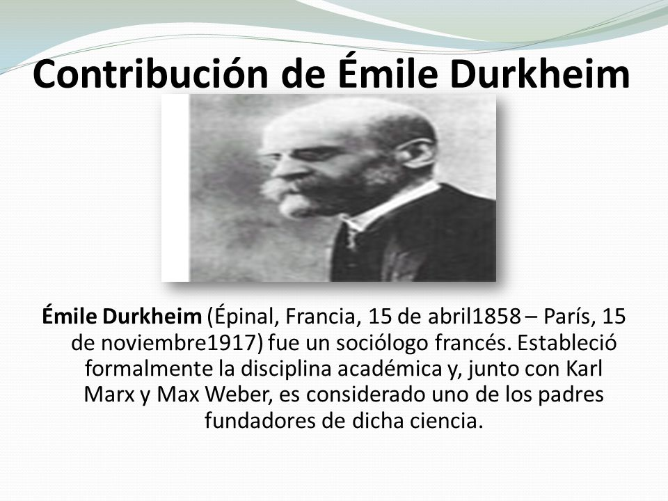 karl marx and durkheim Karl marx, emile durkheim, and max weber created many of the seminal  concepts and methods at the heart of sociology, economics, political.