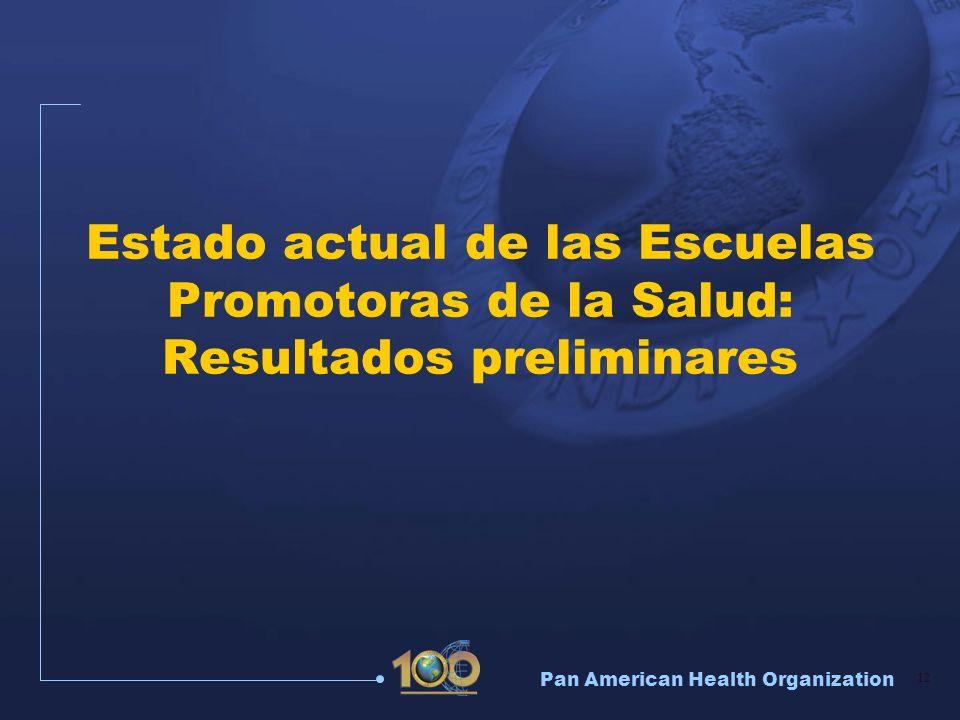 Estado actual de las Escuelas Promotoras de la Salud: Resultados preliminares