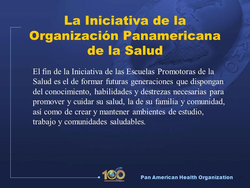 La Iniciativa de la Organización Panamericana de la Salud
