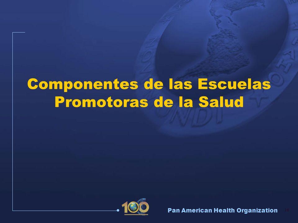Componentes de las Escuelas Promotoras de la Salud