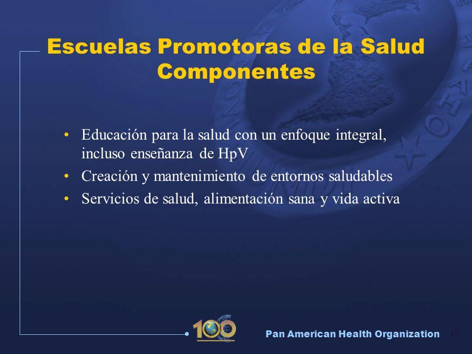 Escuelas Promotoras de la Salud Componentes