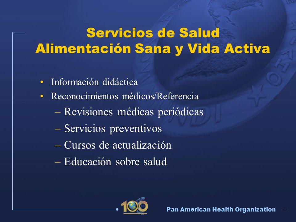 Servicios de Salud Alimentación Sana y Vida Activa
