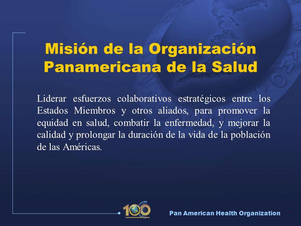 Misión de la Organización Panamericana de la Salud