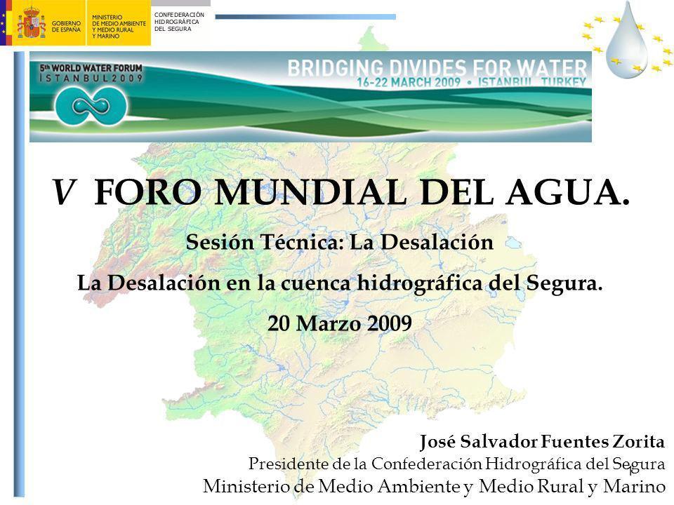 V FORO MUNDIAL DEL AGUA. Sesión Técnica: La Desalación