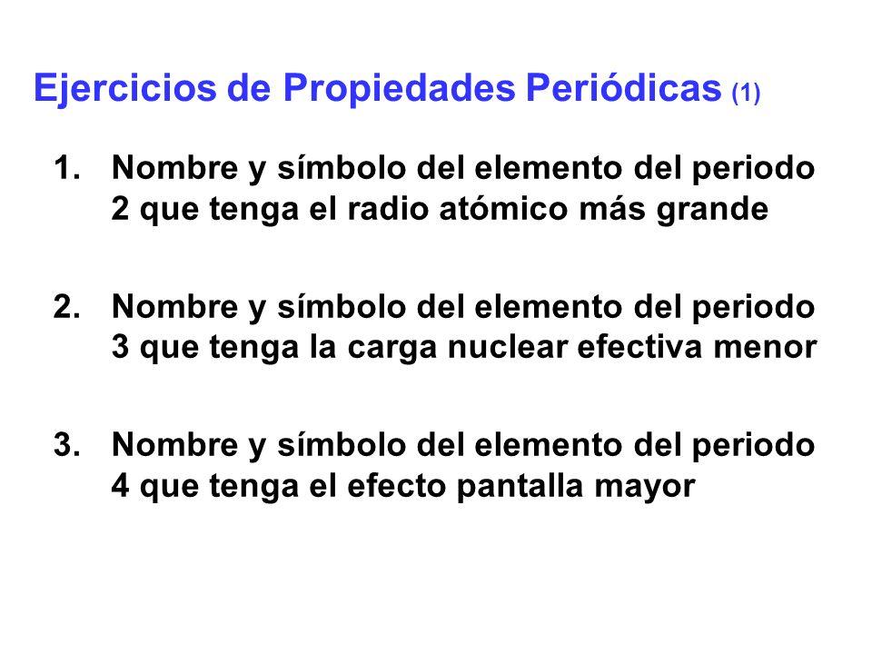 Ejercicios de Propiedades Periódicas (1)