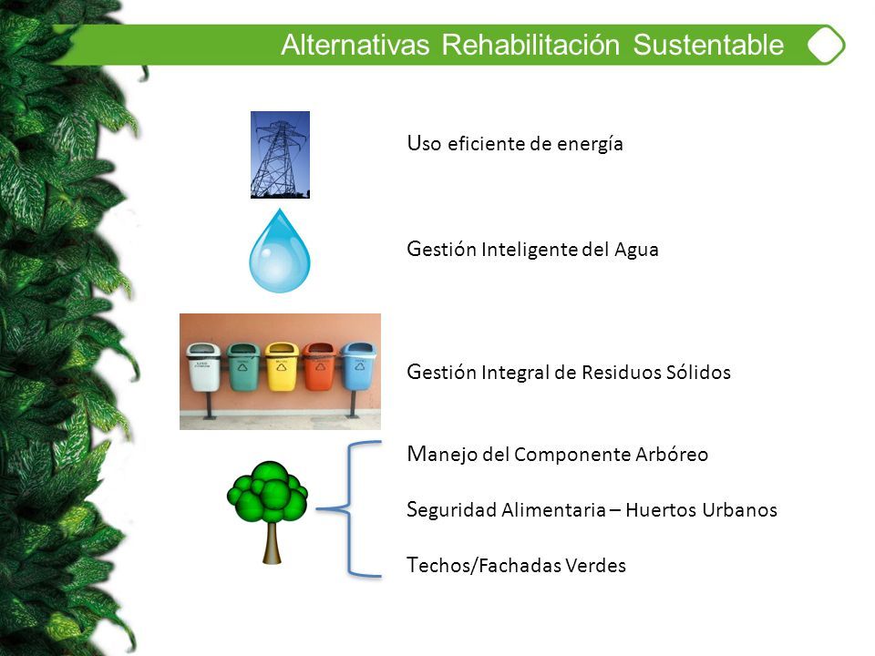 Alternativas Rehabilitación Sustentable