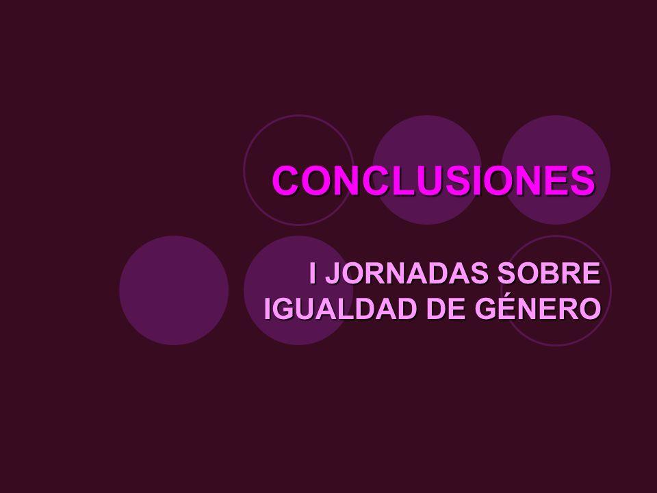 I JORNADAS SOBRE IGUALDAD DE GÉNERO