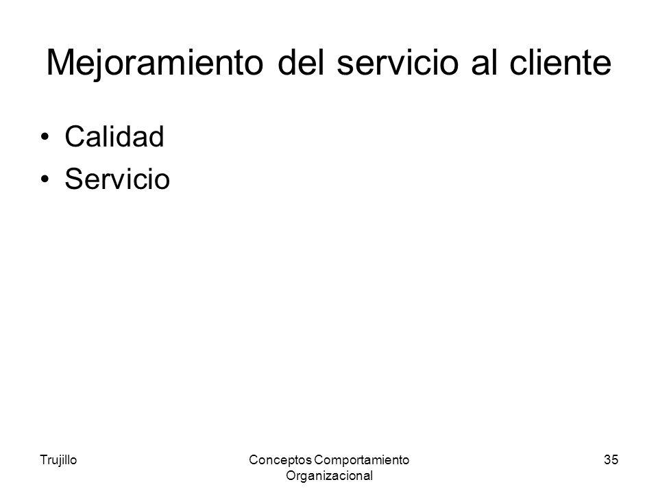Mejoramiento del servicio al cliente