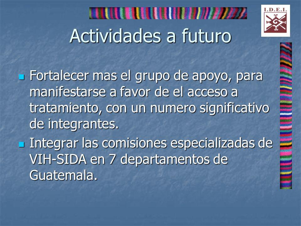 Actividades a futuro