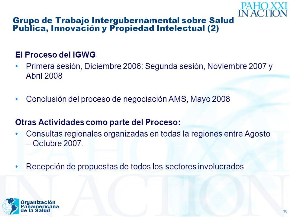 Conclusión del proceso de negociación AMS, Mayo 2008