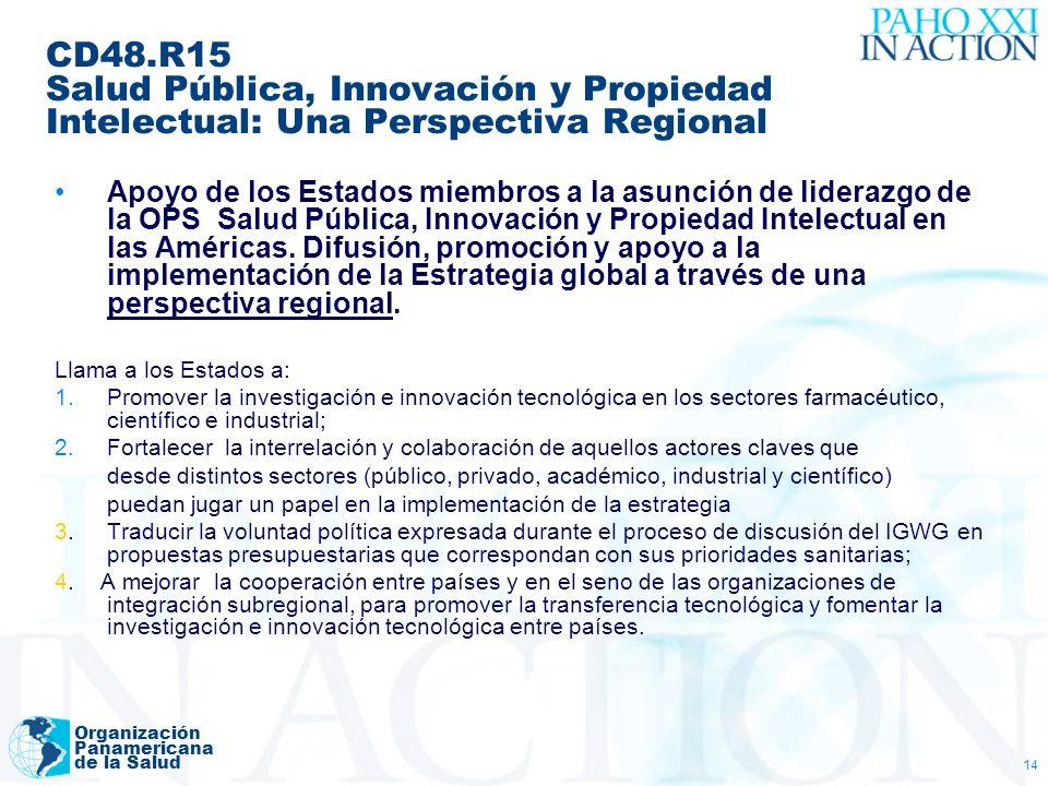 CD48.R15 Salud Pública, Innovación y Propiedad Intelectual: Una Perspectiva Regional