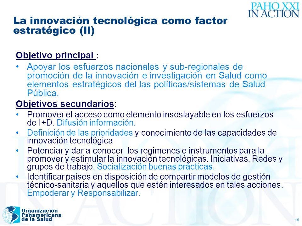 La innovación tecnológica como factor estratégico (II)