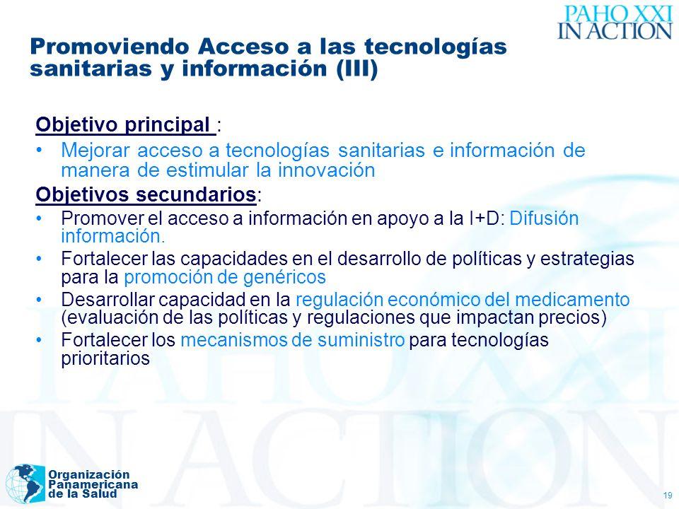 Promoviendo Acceso a las tecnologías sanitarias y información (III)