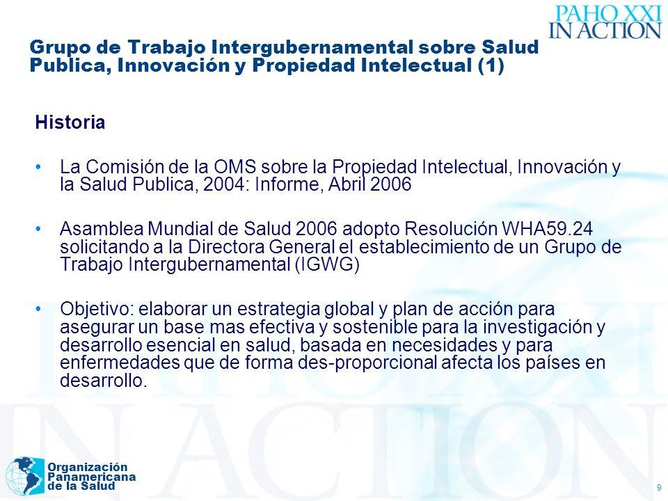 Grupo de Trabajo Intergubernamental sobre Salud Publica, Innovación y Propiedad Intelectual (1)