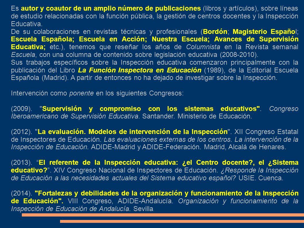 Xiii congreso estatal de inspectores de educaci n mirando for Accion educativa espanola en el exterior