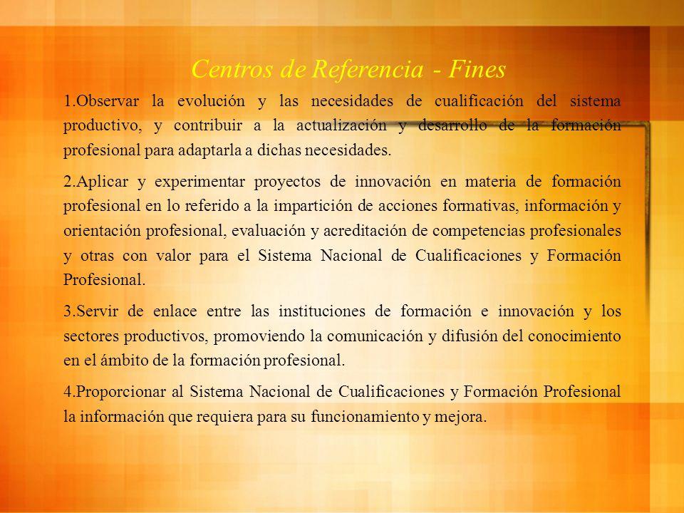 Centros de Referencia - Fines
