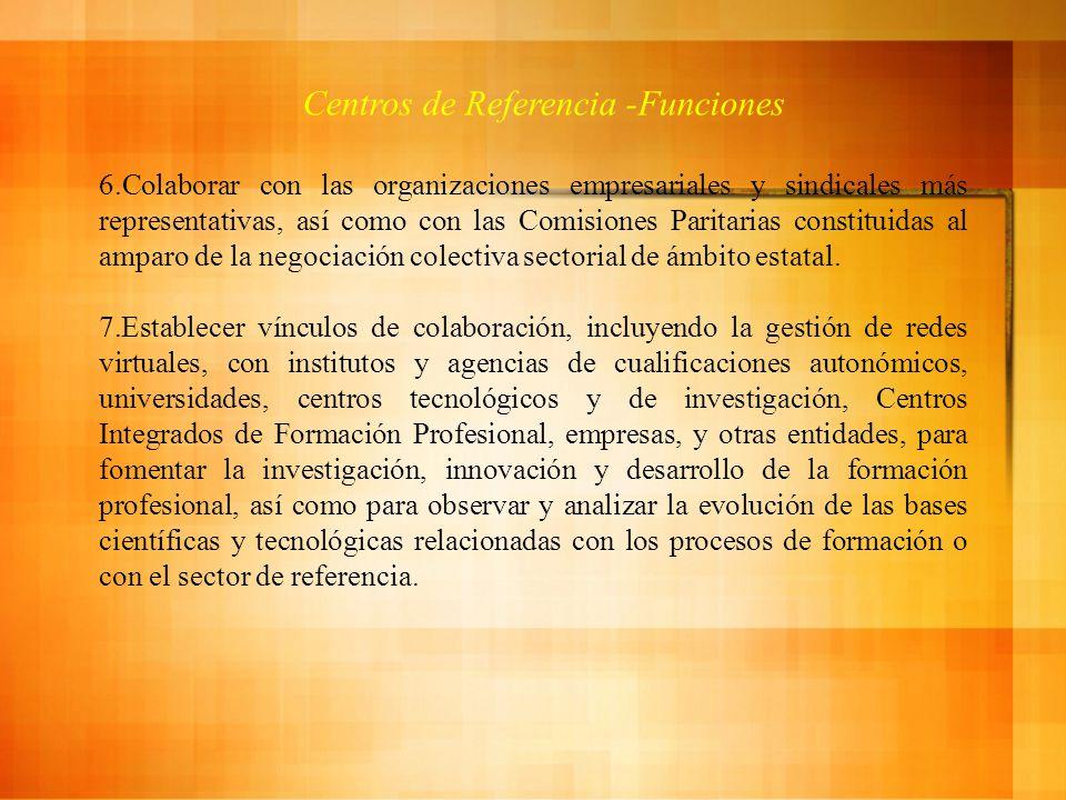 Centros de Referencia -Funciones