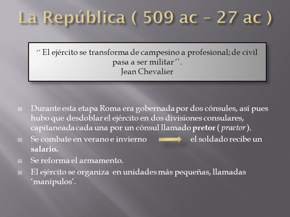 La República ( 509 ac – 27 ac ) Jean Chevalier
