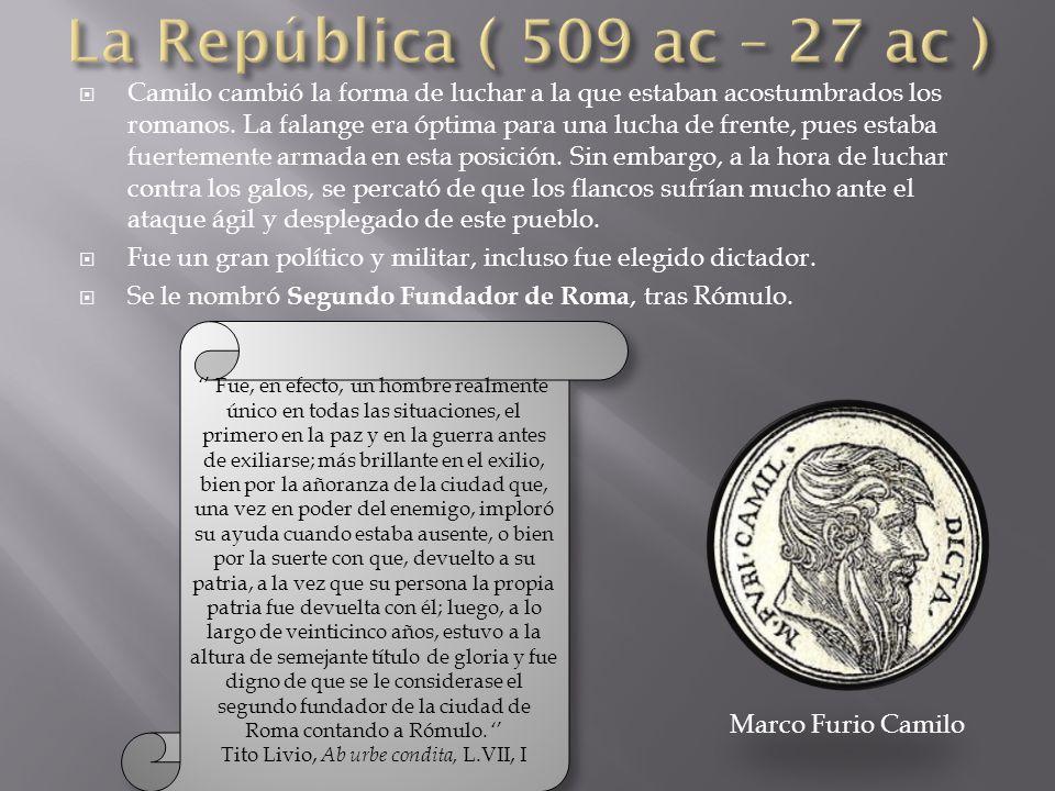 Tito Livio, Ab urbe condita, L.VII, I