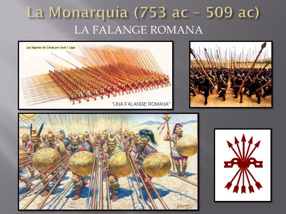 La Monarquía (753 ac – 509 ac) LA FALANGE ROMANA