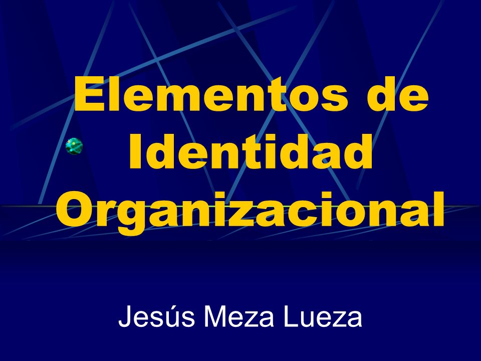 Elementos de Identidad Organizacional