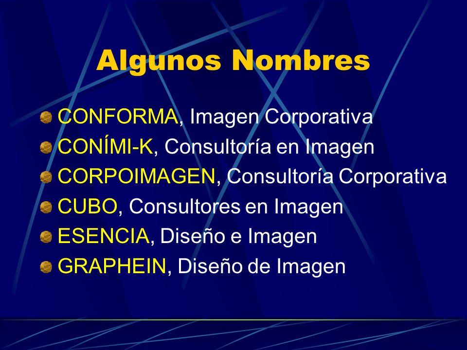 Algunos Nombres CONFORMA, Imagen Corporativa