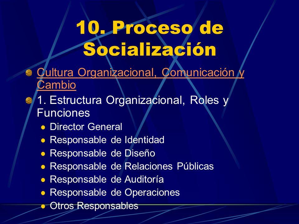 10. Proceso de Socialización