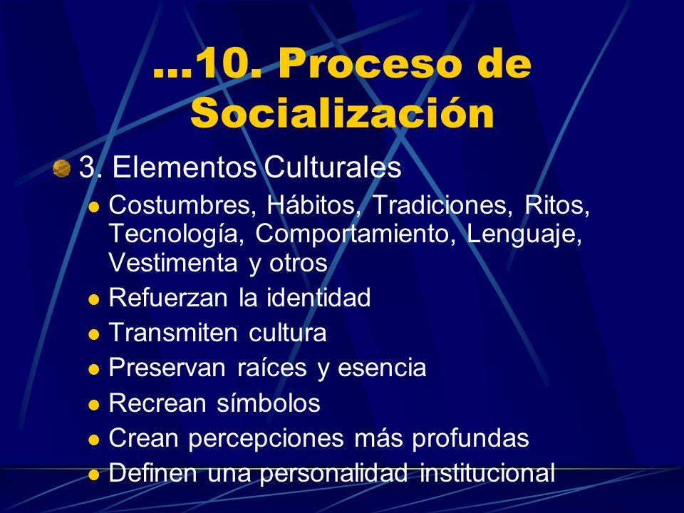 …10. Proceso de Socialización