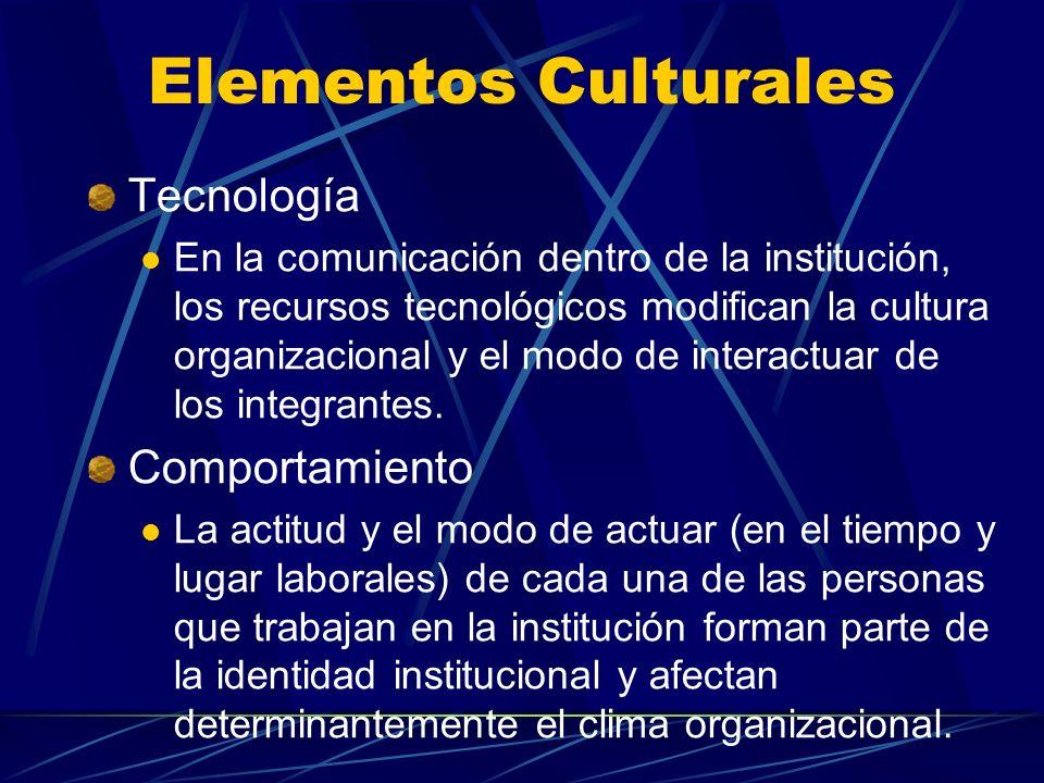 Elementos Culturales Tecnología Comportamiento