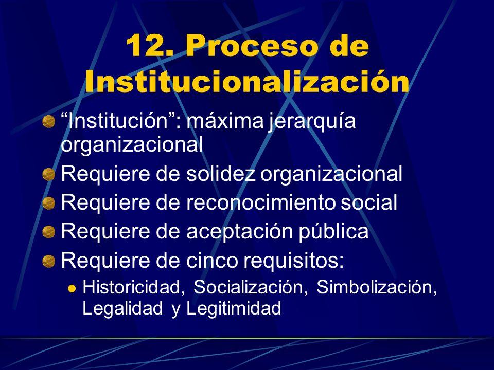 12. Proceso de Institucionalización