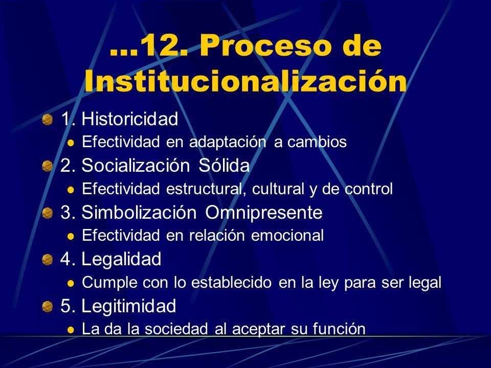 …12. Proceso de Institucionalización