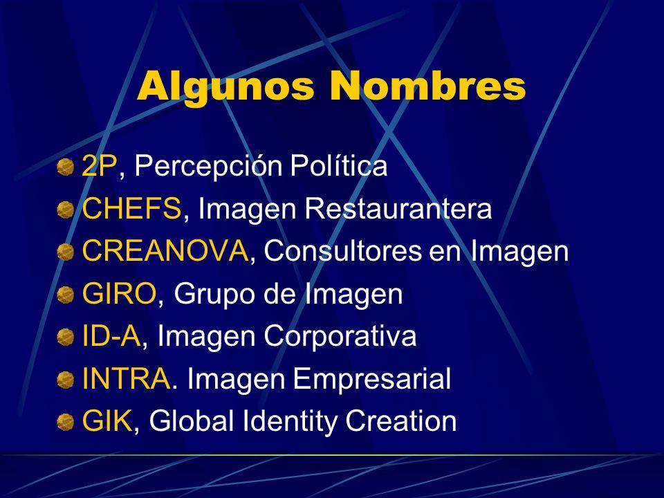 Algunos Nombres 2P, Percepción Política CHEFS, Imagen Restaurantera