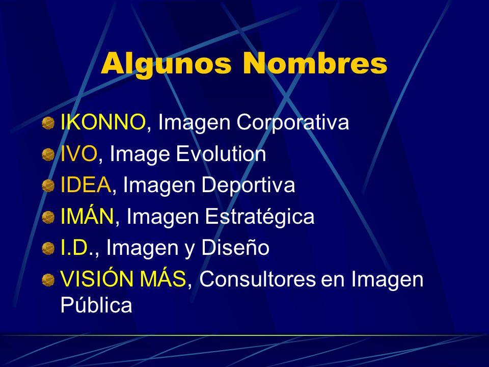Algunos Nombres IKONNO, Imagen Corporativa IVO, Image Evolution