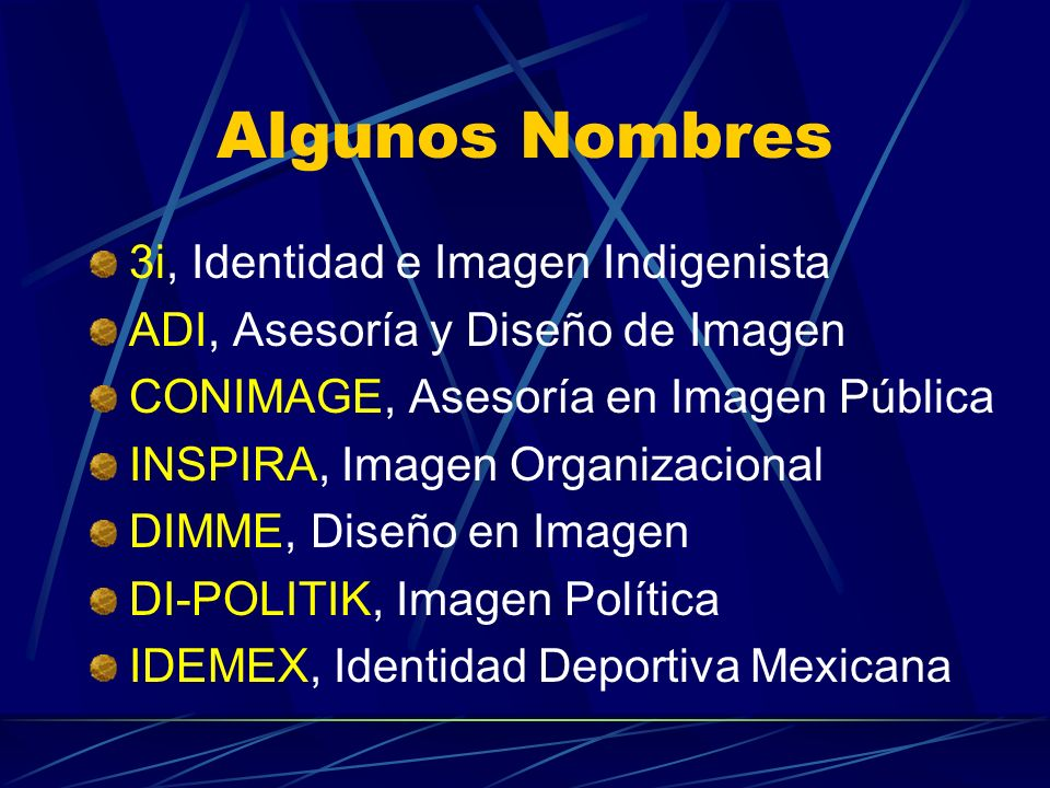 Algunos Nombres 3i, Identidad e Imagen Indigenista