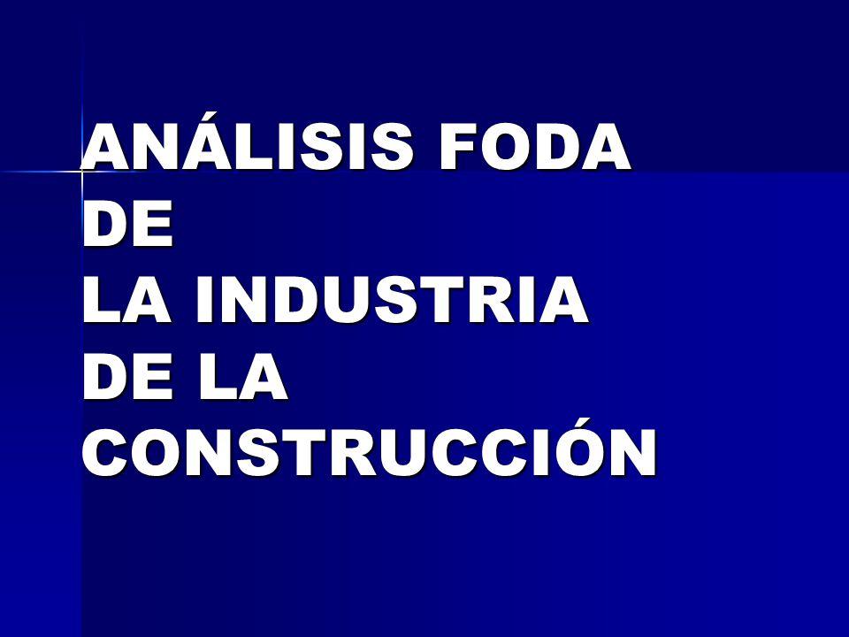 ANÁLISIS FODA DE LA INDUSTRIA DE LA CONSTRUCCIÓN