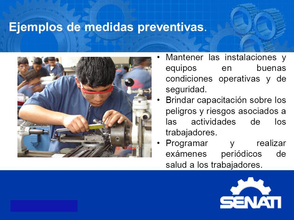 Ejemplos de medidas preventivas.
