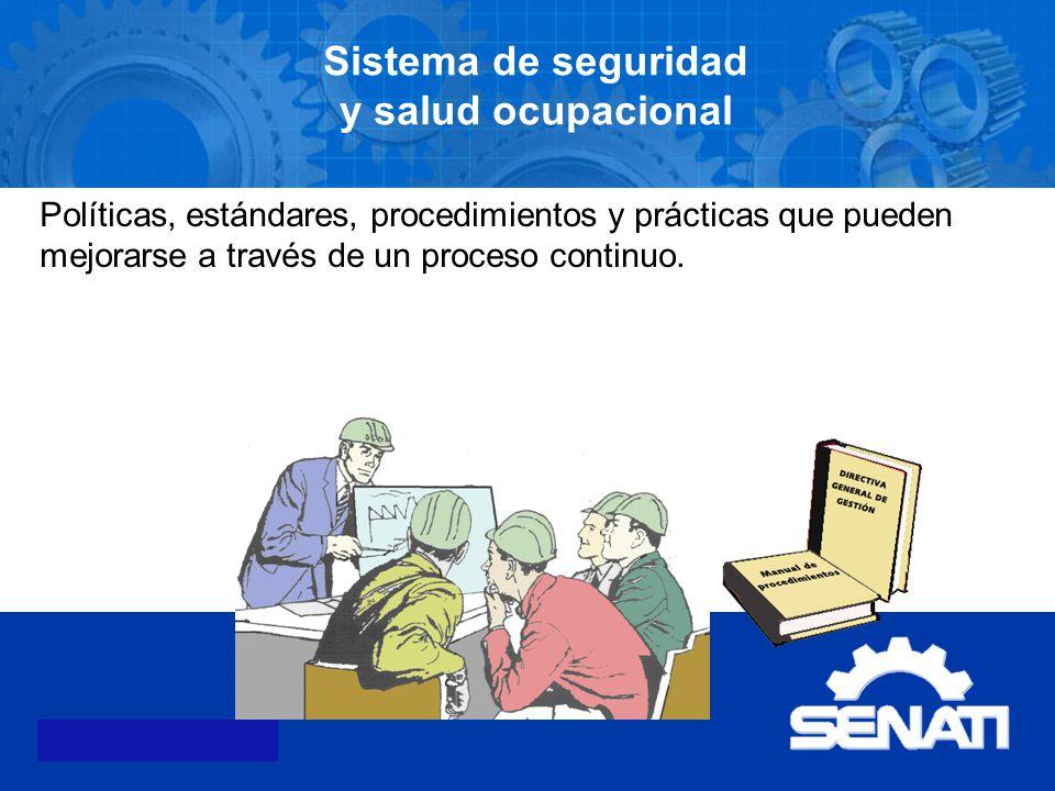 Sistema de seguridad y salud ocupacional
