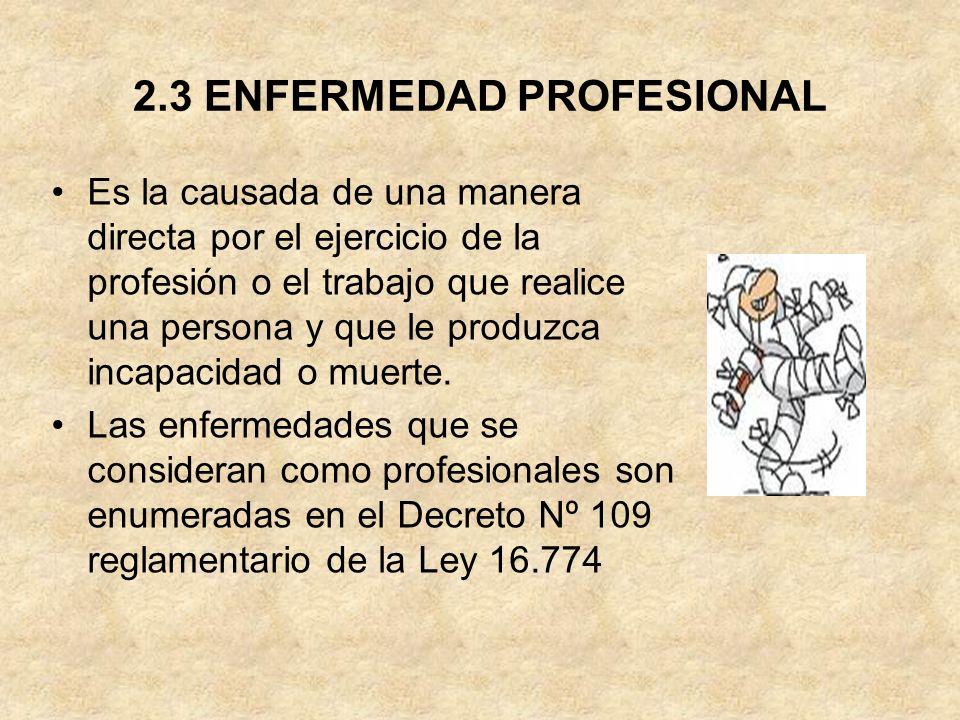 2.3 ENFERMEDAD PROFESIONAL