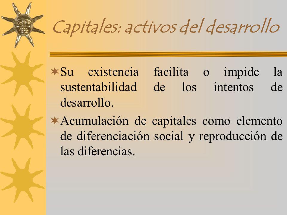 Capitales: activos del desarrollo