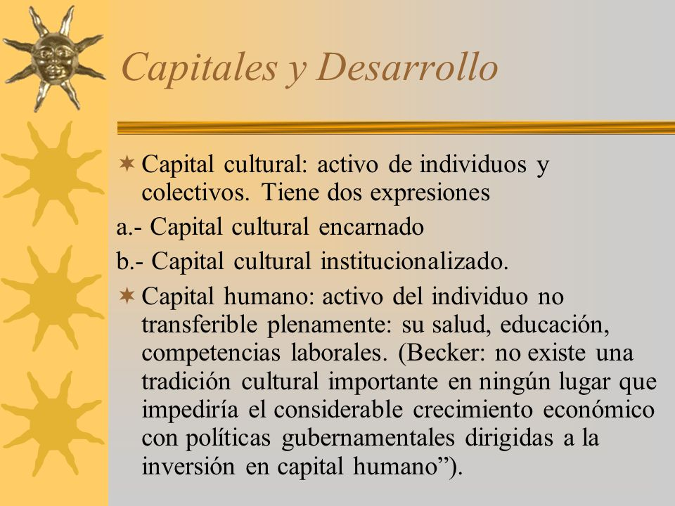 Capitales y Desarrollo
