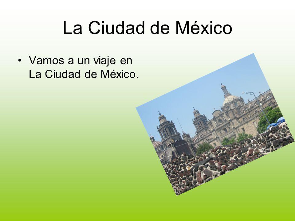 La Ciudad de México Vamos a un viaje en La Ciudad de México.