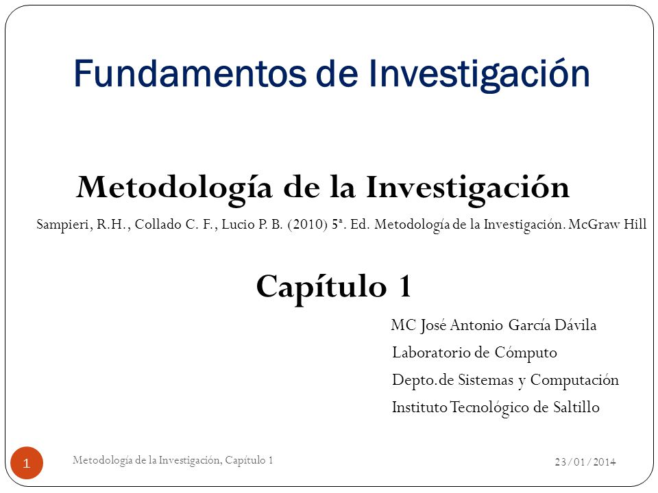 Metodologia 2011. Ppt 1.
