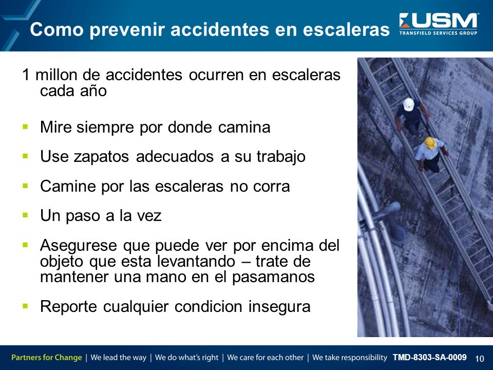 Como prevenir accidentes en escaleras