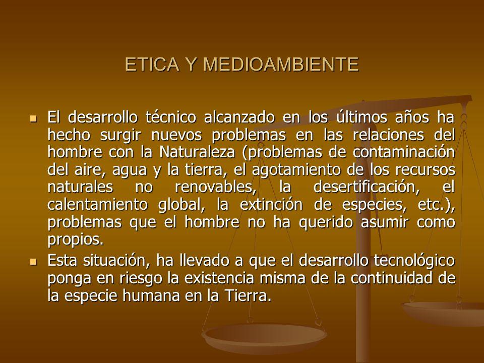 ETICA Y MEDIOAMBIENTE