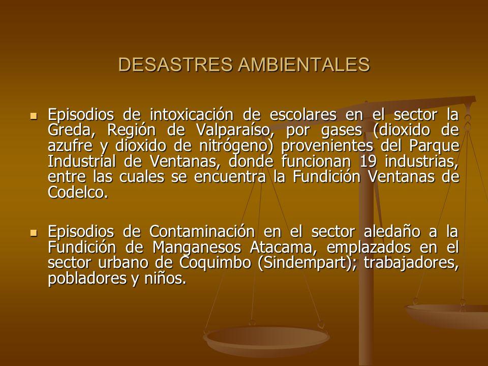 DESASTRES AMBIENTALES