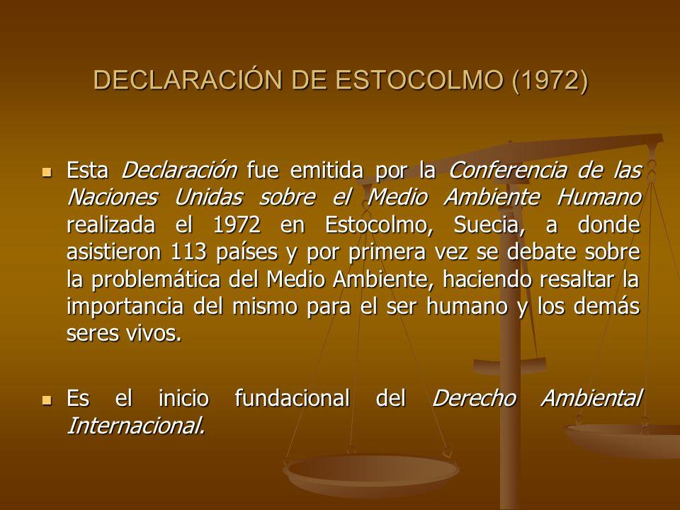 DECLARACIÓN DE ESTOCOLMO (1972)
